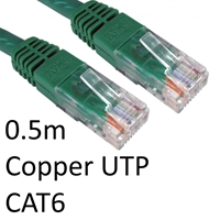 Cat 6 Cables | TARGET RJ45 (M) to RJ45 (M) CAT6 0.5m Green OEM Moulded Boot Copper UTP Network Cable | ERT-600 GREEN | ServersPlus