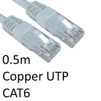 Cat 6 Cables | TARGET RJ45 (M) to RJ45 (M) CAT6 0.5m White OEM Moulded Boot Copper UTP Network Cable | ERT-600 WHITE | ServersPlus