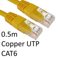 Cat 6 Cables | TARGET RJ45 (M) to RJ45 (M) CAT6 0.5m Yellow OEM Moulded Boot Copper UTP Network Cable | ERT-600 YELLOW | ServersPlus