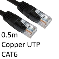 Cat 6 Cables | TARGET RJ45 (M) to RJ45 (M) CAT6 0.5m Black OEM Moulded Boot Copper UTP Network Cable | ERT-600 BLACK | ServersPlus