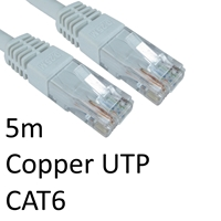 Cat 6 Cables | TARGET RJ45 (M) to RJ45 (M) CAT6 5m White OEM Moulded Boot Copper UTP Network Cable | ERT-605 WHITE | ServersPlus