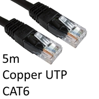 Cat 6 Cables | TARGET RJ45 (M) to RJ45 (M) CAT6 5m Black OEM Moulded Boot Copper UTP Network Cable | ERT-605 BLACK | ServersPlus