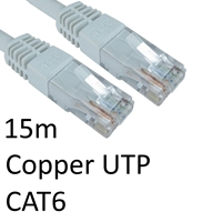 Cat 6 Cables | TARGET RJ45 (M) to RJ45 (M) CAT6 15m White OEM Moulded Boot Copper UTP Network Cable | ERT-615 WHITE | ServersPlus
