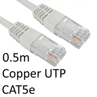 Cat 5e Cables | TARGET RJ45 (M) to RJ45 (M) CAT5e 0.5m White OEM Moulded Boot Copper UTP Network Cable | URT-600 WHITE | ServersPlus