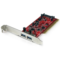 PC Controllers | STARTECH  2 Port PCI SuperSpeed USB 3.0 Adapter Card with SATA Power | PCIUSB3S22 | ServersPlus