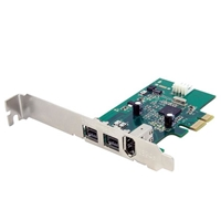PC Controllers | STARTECH 3 Port 2b 1a 1394 PCI Express FireWire Card Adapter | PEX1394B3 | ServersPlus