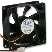 PC Case Fans | AKASA Akasa 80mm 1800RPM Black OEM Fan | DFS802512L | ServersPlus