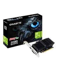Gigabyte Graphics Cards | GIGABYTE  GeForce GT 710 2GB GDDR5 Silent 0dB Passive Cooling System Low Profile Graphics Card | GV-N710D5SL-2GL | ServersPlus