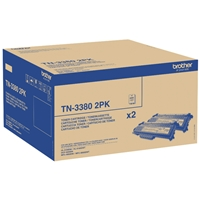 Brother Original Laser Toners | BROTHER Original TWIN PACK HIGH CAPACITY TN3380TWIN | TN3380TWIN | ServersPlus