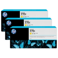 HP Original Ink Cartridges | HP Original 771C YELLOW D/JET INK CARTRIDGE PK3 34 B6Y34A | B6Y34A | ServersPlus