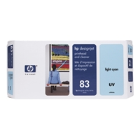 HP Original Ink Cartridges | HP Original 83 UV PHEAD/CLEAN LT CYAN C4964A | C4964A | ServersPlus