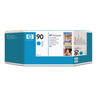 Hewlett Packard Original Ink Cartridges | HP 90 3-pack 400-ml Cyan Ink Cartridges | C5083A | ServersPlus