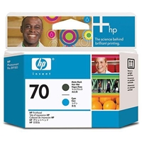 HP Original Ink Cartridges | HP Original 70 PHEAD MATTE BLACK CYAN PK2 C9404A | C9404A | ServersPlus