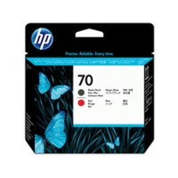 HP Original Ink Cartridges | HP Original 70 PHEAD BLK RED PK2 C9409A | C9409A | ServersPlus