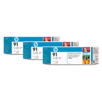 Hewlett Packard Original Ink Cartridges | HP HP 91 INKJET CART LT GRY PK3 C9482A | C9482A | ServersPlus