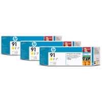 HP Original Ink Cartridges | HP Original 91 INKJET CART YELLOW PK3 C9485A C9485A | C9485A | ServersPlus
