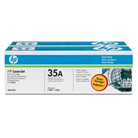 HP Original Laser Toners | HP Original 35A 2-pack Black Original LaserJet Toner Cartridges CB435AD | CB435AD | ServersPlus