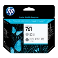 Hewlett Packard Original Ink Cartridges | HP 761 Grey/Dark Grey Designjet Printhead | CH647A | ServersPlus