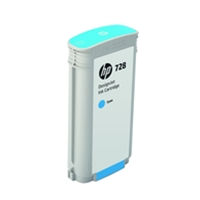 Hewlett Packard Original Ink Cartridges | HP HP 728 130ML INK CARTRIDGE CYAN | F9J67A | ServersPlus