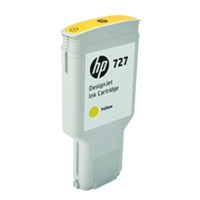 Hewlett Packard Original Ink Cartridges | HP 727 300-ml Yellow DesignJet Ink Cartridge | F9J78A | ServersPlus