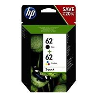 HP Original Ink Cartridges | HP Original HP 62 INK CARTRIDGE PK 2 N9J71AE | N9J71AE | ServersPlus