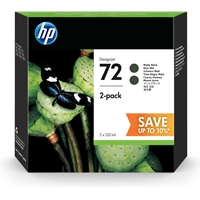 HP Original Ink Cartridges | HP Original HP 72 INK CARTRIDGE MATTE BLACK 130ML TWIN P2V33A | P2V33A | ServersPlus