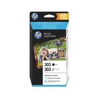 Hewlett Packard Original Ink Cartridges | HP HP 303 PHOTO VALUE PACK 10X15 SHEETS | Z4B62EE | ServersPlus