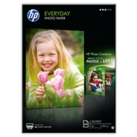 Printer and Copier Paper | HP Everyday Photo Paper - Semi-gloss photo paper - A4 (210 x 297 mm) - 175 g/m2 - 100 sheet(s | Q2510A | ServersPlus