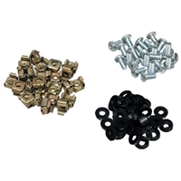 Server Cabinet Accessories | SERVERS PLUS Cage Nuts and Bolts (pack of 100) | SPNUTS100 | ServersPlus