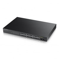 Smart Managed Network Switches | ZYXEL GS1900-24HP 24-port GbE L2 PoE Smart Switch | GS1900-24HP-GB0101F | ServersPlus