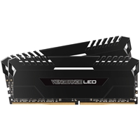 PC System Memory (RAM) | CORSAIR  16GB VENGEANCE LED Black Heatsink with White LED (2 x 8GB) DDR4 2666MHz System Memory | CMU16GX4M2A2666C16 | ServersPlus