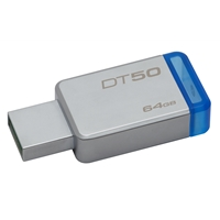 USB Flash Drives | KINGSTON DataTraveler 50 64GB USB 3.0/3.1 | DT50/64GB | ServersPlus