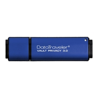 USB Flash Drives | KINGSTON DataTraveler Vault Privacy 3.0 4GB USB 3.0 Blue USB Flash Drive | DTVP30/4GB | ServersPlus